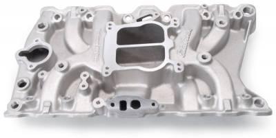 Cylinder Block Components - Engine Intake Manifold - Edelbrock - Performer Small-Block Oldsmobile 350 EGR Intake Manifold - 3711