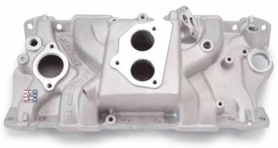 Cylinder Block Components - Engine Intake Manifold - Edelbrock - Performer T.B.I. Intake Manifold Small-Block Chevy - 3704