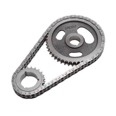 Valve Train Components - Engine Timing Set - Edelbrock - Performer-Link Adjustable True-Roller Timing Chain Set - 7803