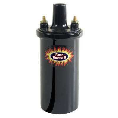 Ignition Coil - Ignition Coil - Pertronix - PerTronix 45011 Flame-Thrower II Coil 45,000 Volt 0.6 ohm Black - 45011