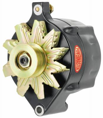 Alternator / Generator and Related Components - Alternator - Powermaster - Powermaster Alternator Ford Upgrade Black 150A Smooth Look 6 grv Pulley 1-Wire - 8-57140