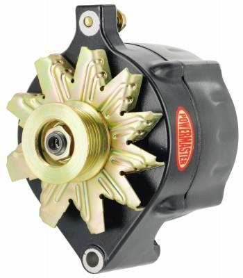Powermaster - Powermaster Alternator Ford Upgrade Black 150A Smooth Look 6 grv Pulley 1-Wire - 8-57140