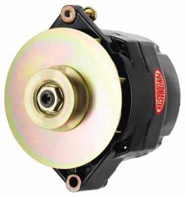 Powermaster - Powermaster Alternator GM 12SI Black 150A 1V Pulley & Baffle 1 or 3 Wire - 57294