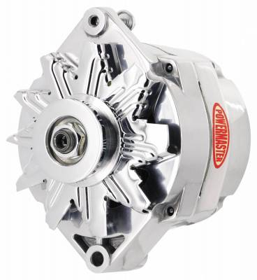 Powermaster - Powermaster Alternator GM 12SI Polish 100A 1V Pulley 1 or 3 Wire - 27294