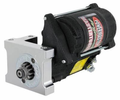 Powermaster - Powermaster Starter Master Infi-Clock Chevy, Ram Jet 350, 502 Stag Mtg 168T Flyw 14:1 Black Wrinkle - 9612