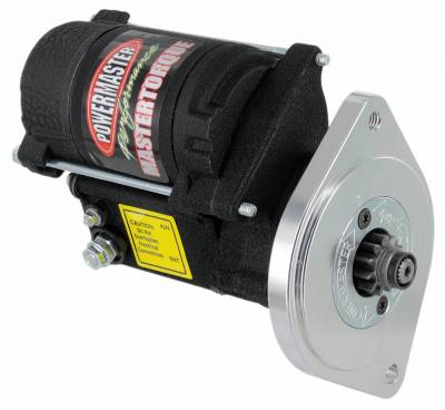 Starter and Related Components - Starter Motor - Powermaster - Powermaster Starter Master Infi-Clock Ford Big Block 351M-400-429-460 w/164T,176T,180T,184T 14:1 Black Wrinkle - 9605