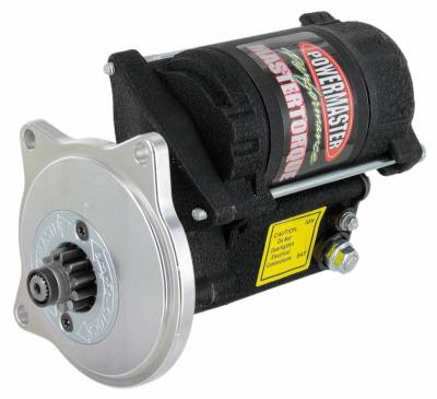 Starter and Related Components - Starter Motor - Powermaster - Powermaster Starter Master Infi-Clock Ford Big Block FE 3 Ear Mtg 1963 1/2 & UP 184T Flyw 14:1 Black Wrinkle - 9606