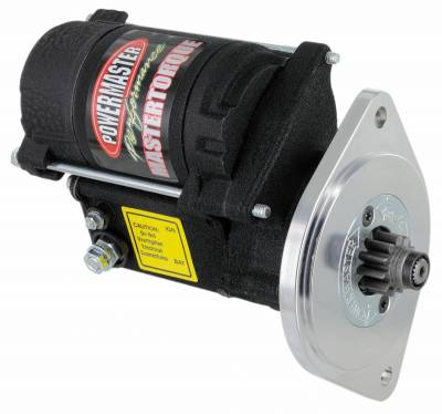 "Starter and Related Components - Starter Motor - Powermaster - Powermaster Starter Master Infi-Clock Ford Small Block V8 All A/T w/157T/164T, M/T 157T Flyw 3/4"" Depth 14:1 Black Wrinkle - 9603"