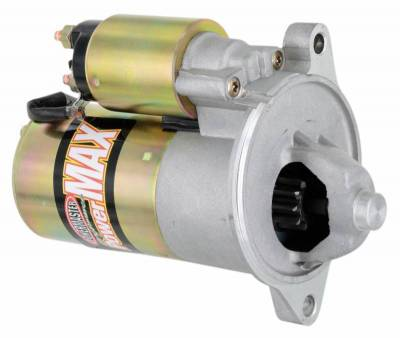 "Starter and Related Components - Starter Motor - Powermaster - Powermaster Starter PowerMAX  Ford Small Block 2 Ear Mtg All M/T w/164T Flyw 3/8"" Depth Natural - 9172"