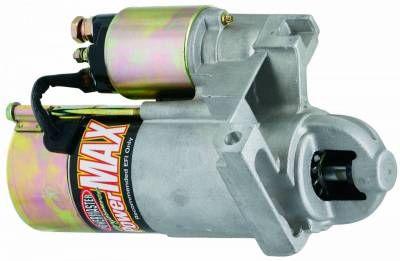 Starter and Related Components - Starter Motor - Powermaster - Powermaster Starter PowerMAX Cady 166T, Buick, Pont LT-1,Chevy ZZ4 All 153T Flyw Natural - 9202