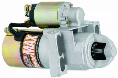 Starter and Related Components - Starter Motor - Powermaster - Powermaster Starter PowerMAX Chevy, Ram Jet 350, 502 Stag Mtg 168T Flyw Natural - 9200