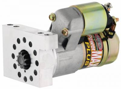 Starter and Related Components - Starter Motor - Powermaster - Powermaster Starter PowerMAX Plus Chevy Universal Straight Mtg 153/168T Flyw 11:1 Natural - 9100