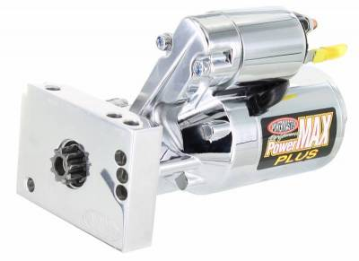 Starter and Related Components - Starter Motor - Powermaster - Powermaster Starter PowerMAX Plus Chevy Universal Straight Mtg 153/168T Flyw 14:1 Chrome - 19000