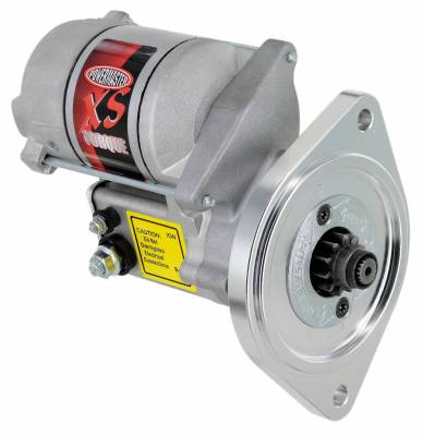 "Starter and Related Components - Starter Motor - Powermaster - Powermaster Starter XS Infi-Clock Ford Small Block 2 Ear Mtg All M/T w/164T Flyw 3/8"" Depth Natural - 9504"