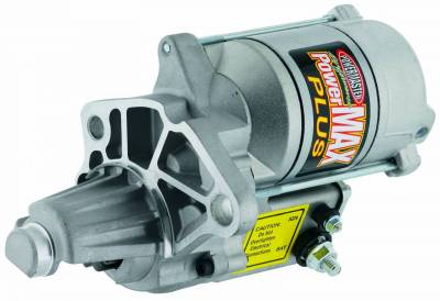 Starter and Related Components - Starter Motor - Powermaster - Powermaster Starter XS Mopar V8 1965-'87 Cast Aluminum Mtg Block w/Nose Cone Natural - 9300