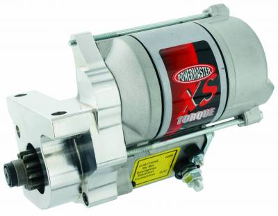 Starter and Related Components - Starter Motor - Powermaster - Powermaster Starter XS w/billet blk Cady 166T, Buick, Pont LT-1,Chevy ZZ4 All 153T Flyw Natural - 9502