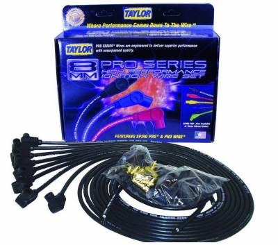 Ignition Wire and Related Components - Spark Plug Wire Set - Taylor Cable - Pro RC univ 8 cyl 90 black - 70051