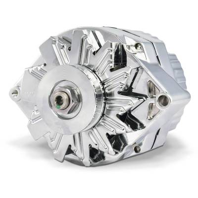 Proform Alternator 100 AMP GM 1 Wire Style Machined Pulley Chrome Finish 100% New 66445.1N