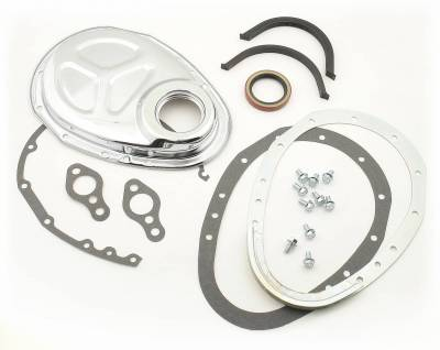 Valve Train Components - Engine Timing Cover - Mr Gasket - Q/C CAM COVER KIT SB CHEV - 1099