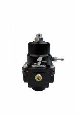 Aeromotive Fuel System - Regulator, Adjustable, 35-75psi, .188 Valve, (2)-08inlets, -08 return - 13303