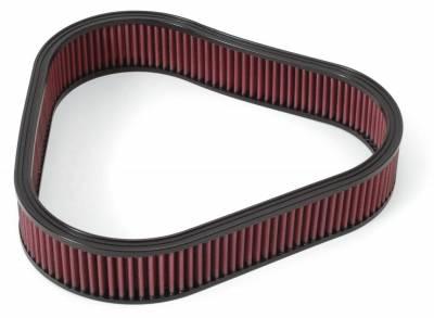 Filters - Air Filter - Edelbrock - Replacement K&N Air Filter for Elite Series Triangular Air Cleaner #4222 - 4226