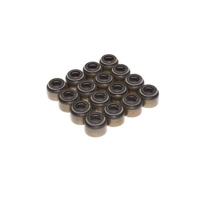 "Gaskets and Sealing Systems - Engine Valve Stem Oil Seal Set - COMP Cams - Set of 16 Black Viton Valve Seals for .494"" Guide Size, 11/32"" Valve Stem - 506-16"
