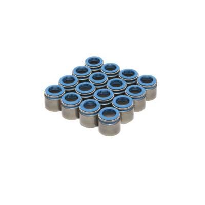 "Set of 16 Metal Body Viton Valve Seals for .530"" Guide Size, 11/32"" Valve Stem - 518-16"