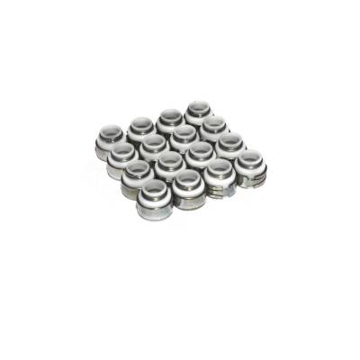 "Gaskets and Sealing Systems - Engine Valve Stem Oil Seal Set - COMP Cams - Set of 16 PTFE Valve Seals for .500"" Guide Size, 3/8"" Valve Stem - 512-16"