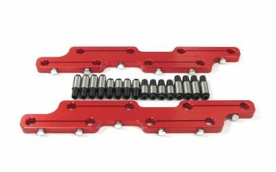 "Valve Train Components - Engine Rocker Arm Stud Girdle - COMP Cams - Solid Stud Girdle Chevrolet Big Block w/ Brodix -2 Head and 7/16"" Stud - 4021"