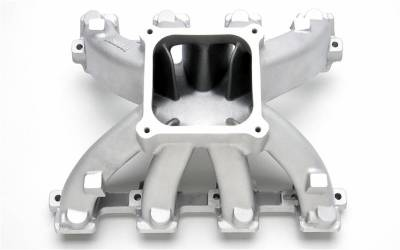 Cylinder Block Components - Engine Intake Manifold - Edelbrock - Super Victor Small-Block Chevy LS3 Carbureted 4500 Intake Manifold - 2821