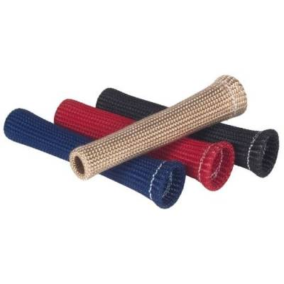 Ignition Wire and Related Components - Spark Plug Boot Heat Sleeve - Thermo Tec - Thermo Tec Plug Wire Sleeve Braided 6 x .375 Inch Up to 750 Degree F Red 4 Pack - 14261