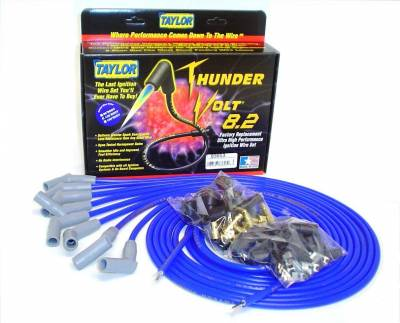 Ignition Wire and Related Components - Spark Plug Wire Set - Taylor Cable - Thundervolt 8.2 univ 8 cyl 135 blue - 83653