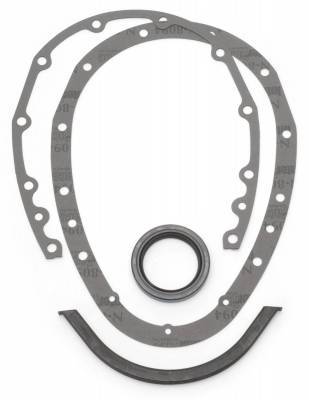 Gaskets and Sealing Systems - Engine Timing Cover Gasket Set - Edelbrock - Two-Piece Replacement Gasket Kit. - 4243