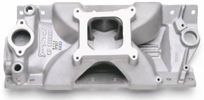 Cylinder Block Components - Engine Intake Manifold - Edelbrock - Victor Jr. 23 Degree Intake Manifold Small-Block Chevy - 2975