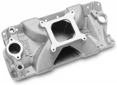 Cylinder Block Components - Engine Intake Manifold - Edelbrock - Victor Jr. 23 Degree Port Matched Intake Manifold Small-Block Chevy - 2900