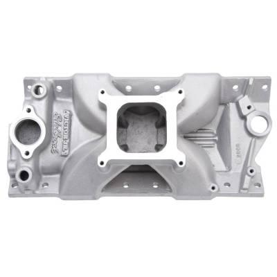 Cylinder Block Components - Engine Intake Manifold - Edelbrock - Victor Jr. 23 Degree Tall Intake Manifold Small-Block Chevy - 2999