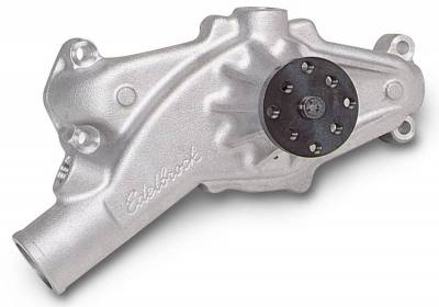 Water Pump and Related Components - Engine Water Pump - Edelbrock - Water Pump Big-Block Chevy Short/Standard in Satin Finish - 8850