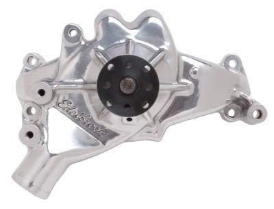 Water Pump and Related Components - Engine Water Pump - Edelbrock - Water Pump Big-Block Chevy Standard/Long in Polished Finish - 8861