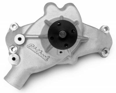 Water Pump and Related Components - Engine Water Pump - Edelbrock - Water Pump for 1988 and later C/K pickups in Satin Finish - 8853