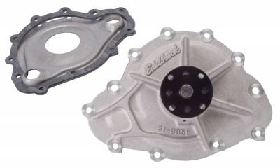 Water Pump and Related Components - Engine Water Pump - Edelbrock - Water Pump for Pontiac, Standard Rotation in Satin Finish - 8856