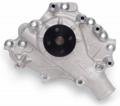 Water Pump and Related Components - Engine Water Pump - Edelbrock - Water Pump for Small-Block Ford 1970-79 351C and 351M/400 in Satin Finish - 8844