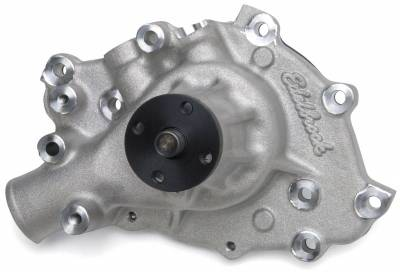 Water Pump and Related Components - Engine Water Pump - Edelbrock - Water Pump for Small-Block Ford in Satin Finish - 8841