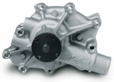 Water Pump and Related Components - Engine Water Pump - Edelbrock - Water Pump Ford 5.0 V8 Reverse Rotation in Satin Finish - 8840