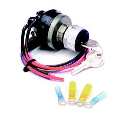 Switches - Ignition Switch Kit - Painless Wiring - Waterproof Universal Keyed Ignition Switch - 80529