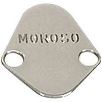 Fuel Pumps and Related Components - Fuel Pump Block-Off Plate - Moroso - Moroso Fuel Pump Plate, Big Block Chevy, Chr - 65394