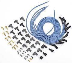 Ignition Wire and Related Components - Spark Plug Wire - Moroso - Moroso Wire Set, Univ, Blu, 135 Deg Boot - 73220