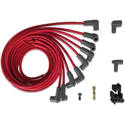 MSD - Wire Set,SC,Red,8Cyl,90/90 Boots, Univ - 31229