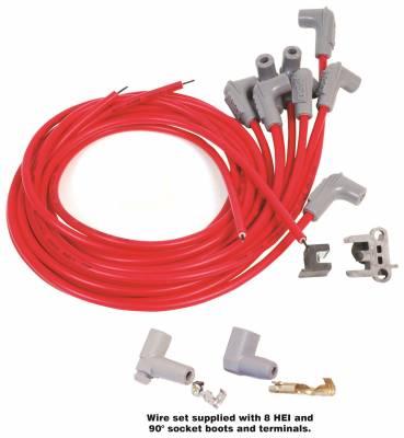 MSD - Wire Set, SC 8 Cyl 90 Plug, Sock/HEI Cap - 31239