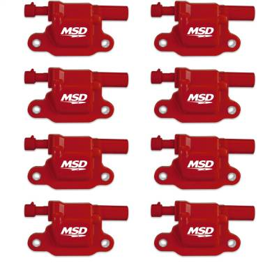 Ignition Coil - Ignition Coil - MSD - Coils, GM LS2/3/4/7/9, 05-13, 8-Pack - 82658