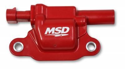 MSD - Coils, Red, Square, '14 & up GM V8, 8-pk - 82668 - Image 2